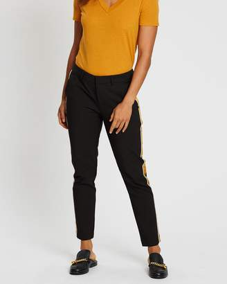 Scotch & Soda Tailored Stretch Pants With Contrast Side Panel