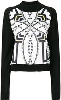 Versace crew neck printed sweater