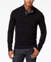 INC International Concepts Men's Quarter-Snap Cable Knit Sweater, Created for Macy's