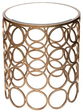 Wildon Home Chaplin Stacked Ring Mirrored End Table