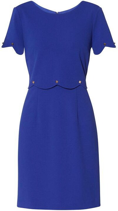 Thumbnail for your product : Gina Bacconi Noelia Scallop Crepe Dress