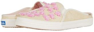 Keds x kate spade new york Double Decker Mule Pom-Pom Raffia (Natural/Pink Raffia) Women's Shoes
