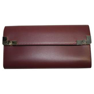 Lancel Burgundy Leather Wallets