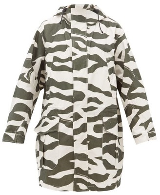 Phipps Camouflage-print Cotton-blend Coat - White Multi