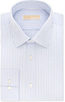 MICHAEL Michael Kors Men's Classic/Regular Fit Blue Stripe Dress Shirt
