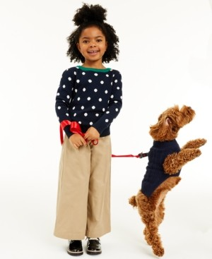 Charter Club Little Girls Dot Sweater, Created for Macy's