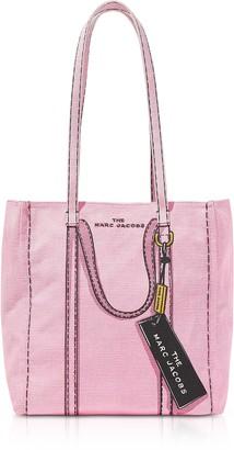 Marc Jacobs The Trompe L'oeil Tag Cotton & Linen Tote Bag