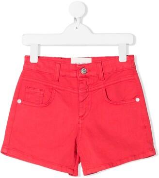Alberta Ferretti Kids I Love You denim shorts