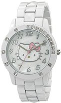 Hello Kitty Girls' HKAQ2584 White Bracelet Watch