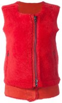 Giorgio Brato zipped round neck gilet - women - Sheep Skin/Shearling - 40
