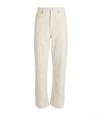 Ganni + Levi's Wide-Leg Printed Jeans