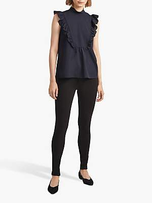 French Connection Crepe Mock Neck Top