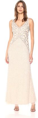 Adrianna Papell Women's Sleeveless Beaded Long Dress