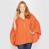 Taillissime Cape Blouse with Zip-Up Neckline