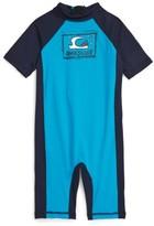 Quiksilver Toddler Boy's Bubble One-Piece Rashguard Swimsuit