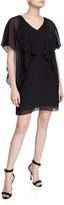 Trina Turk Buena Vista V-Neck Draped Flutter-Sleeve Dress