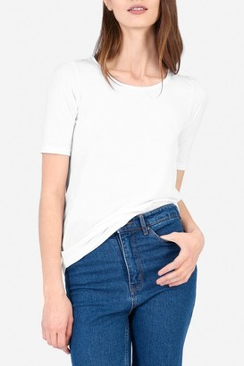 Everlane The Pima Stretch Mid-Sleeve T-Shirt