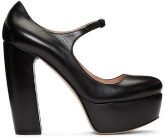 Miu Miu Black Platform Mary Jane Heels