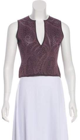 Herve Leger Sleeveless Cutout Top