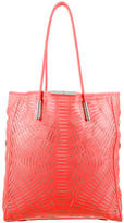 McQ by Alexander McQueen Lasercut Leather Tote