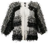 Zero Maria Cornejo collarless jacket - women - Silk/Cotton/Spandex/Elastane - M/L