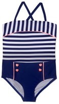 Hula Star Girl's 'Ships Ahoy' One-Piece Swimsuit