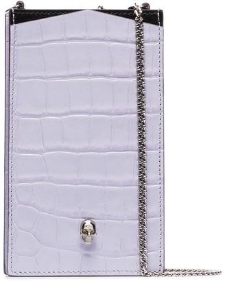 Alexander McQueen Skull chain-strap phone case