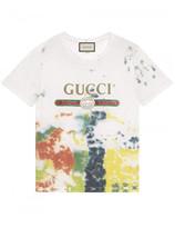 Gucci Cotton tie-dye t-shirt with print