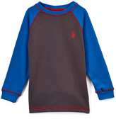 U.S. Polo Assn. Campfire Coal Long-Sleeve Raglan Top - Boys