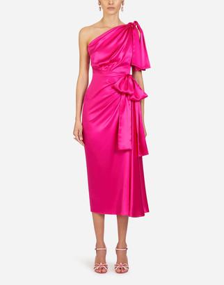 Dolce & Gabbana Silk Satin Longuette Dress
