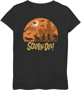 Girls 7-16 Scooby-Doo & The Gang Trick Or Treat Halloween Night Graphic Tee
