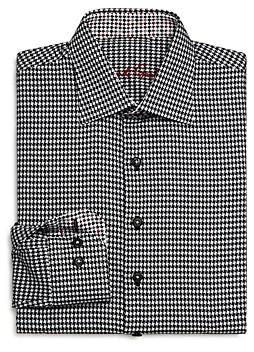 Robert Graham Boys' Bessemer Houndstooth Dress Shirt - Big Kid