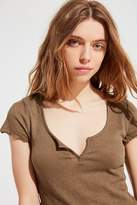 Out From Under Serena Notch Henley Tee