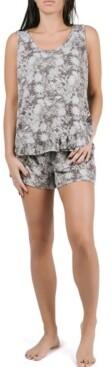 Tahari Sleeveless Ruffle Tank and Short Pajama Set