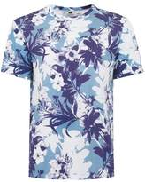 Topman Blue Hawaii Print T-Shirt