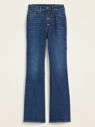 Old Navy Extra High-Waisted Button-Fly Flare Jeans for Women