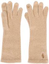 Polo Ralph Lauren embroidered logo gloves