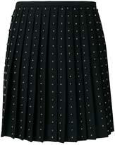 Versace studded pleated skirt