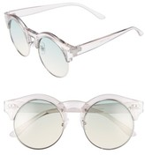 BP Women's 50Mm Round Gradient Lens Sunglasses - Grey Clear