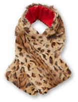 Adrienne Landau Leopard Clip Scarf