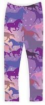 Urban Smalls Purple Sparkle Horses Leggings - Toddler & Girls