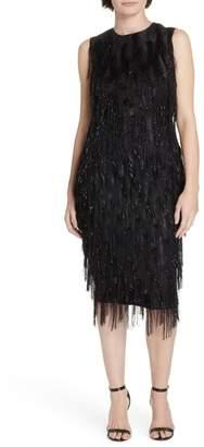 Diane von Furstenberg Nadi Fringe Sheath Dress