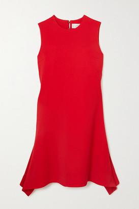 Victoria Victoria Beckham Asymmetric Draped Crepe Dress - Red