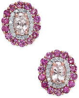 Macy's Multi-Gemstone (2-1/2 ct. t.w.) & Diamond (1/4 ct. t.w.) Stud Earrings in 14k Rose Gold