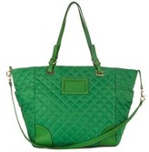"""M Z Wallace Bedford City"""" Kelly Green Quilted Nylon Tote"""