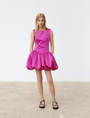 Maje Satin mini dress with balloon skirt