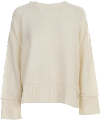 Twin-Set TwinSet Sweater Crew Neck Side Buttons