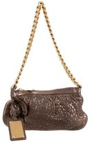Dolce & Gabbana Distressed Leather Mini Shoulder Bag