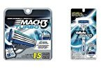 Gillette Mach3 Razor Bundle (1 Razor Handle and 16 Razor Blade Refills)
