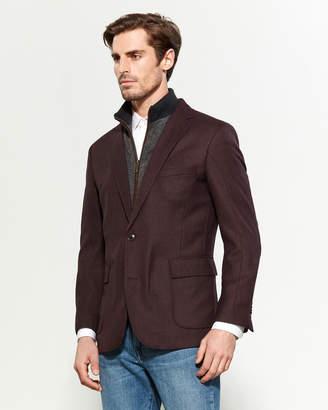 English Laundry Houndstooth Front Bib Jacket